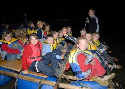 Klassenfahrt Floßbau