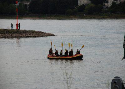 Klassenfahrt auf dem Rhein