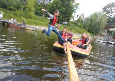 Klassenfahrt Schlauchboottour