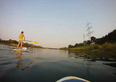 SUP auf dem Rhein