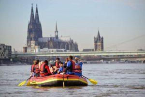 Rafting auf dem Rhein