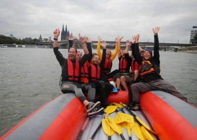 Raftingtour Rhein