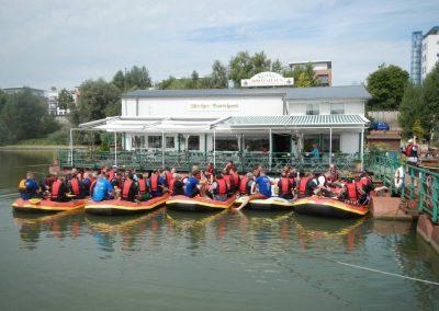 Anlegestelle Rafting